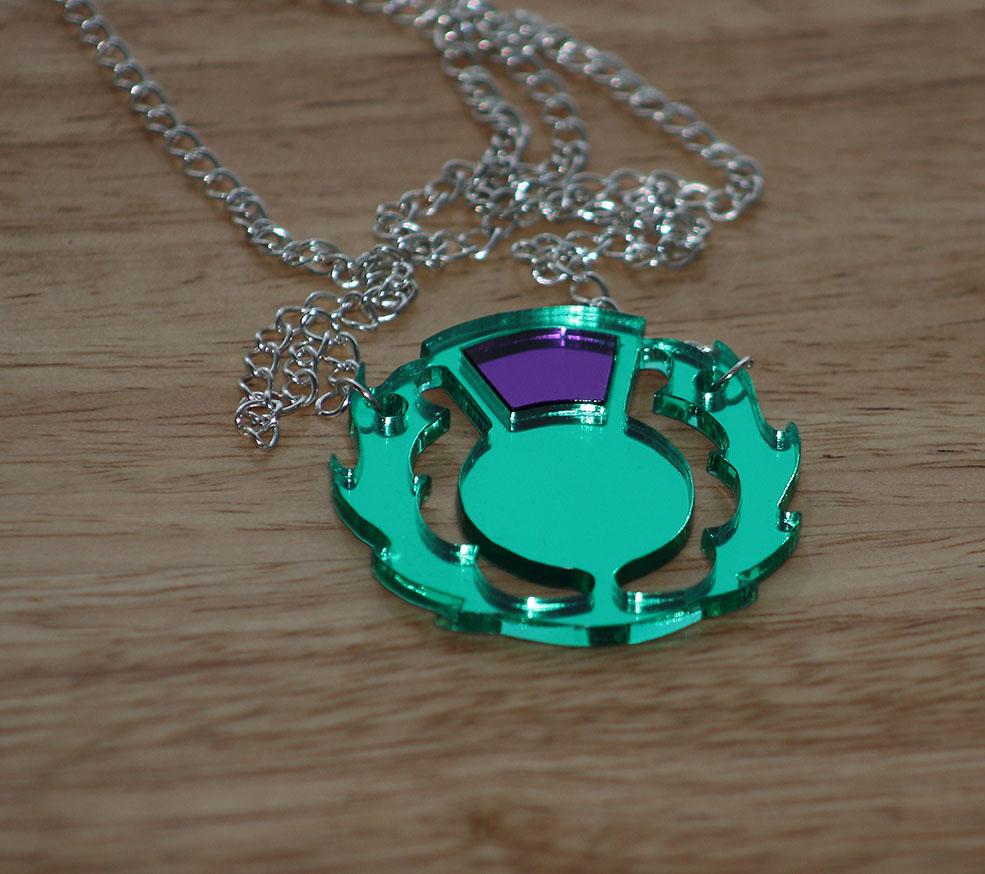 Mirrored Thistle pendant