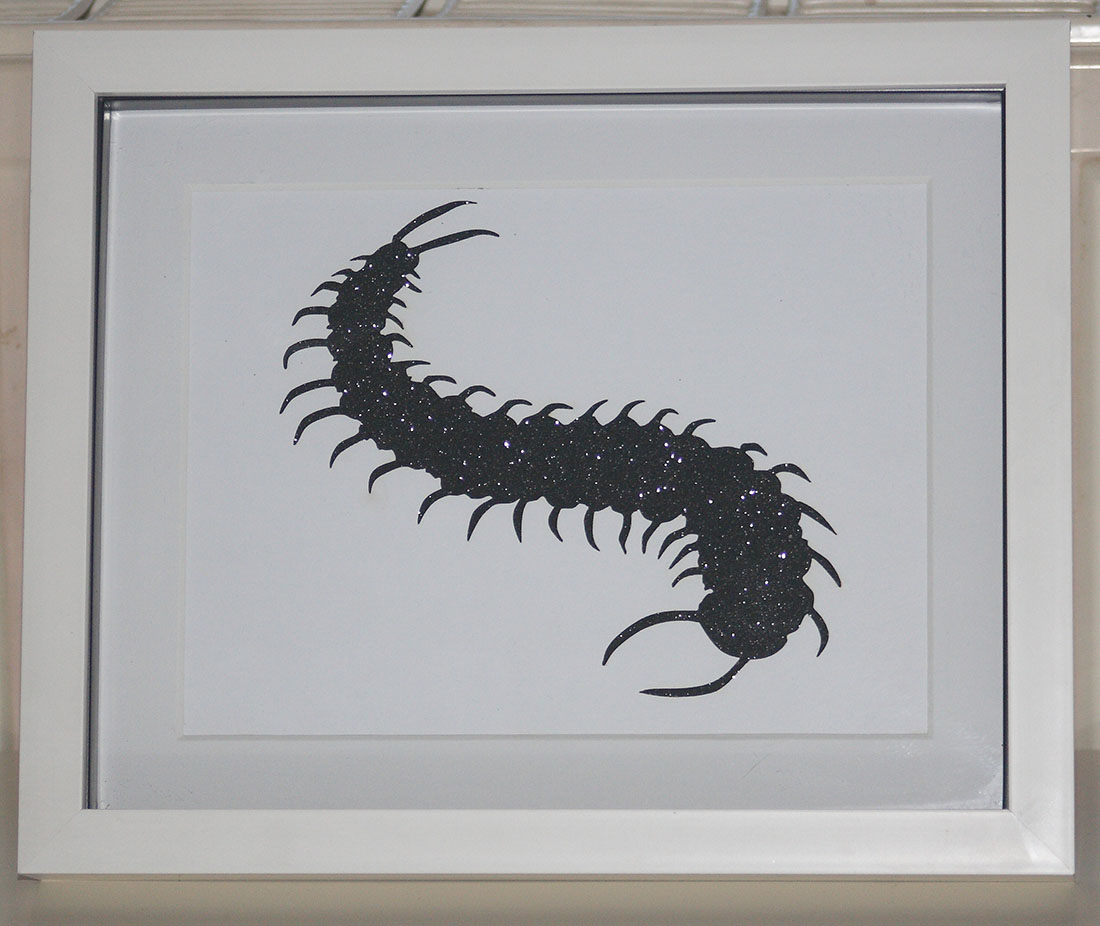 Glitter Centipede cut out