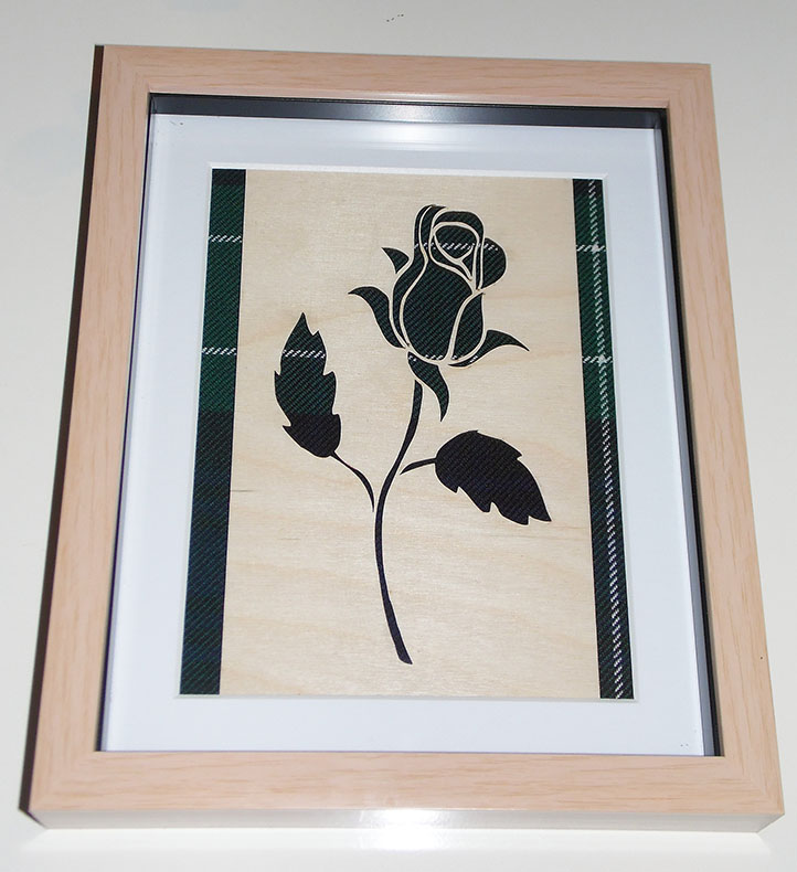 Wooden Rose cutout