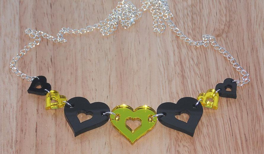 Original design necklace Black & Yellow