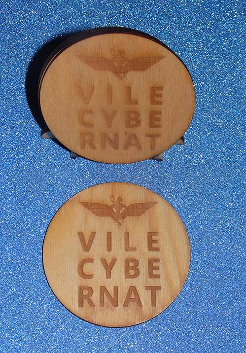 Wings Over Scotland engraved coaster set Vilecybernat design