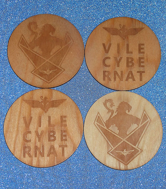 Wings Over Scotland engraved coaster set mixed