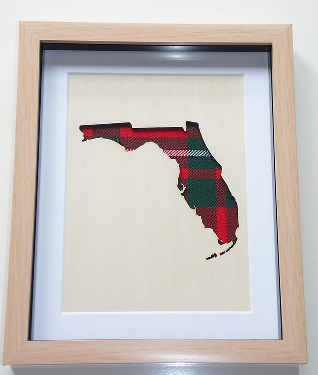 Florida Map wooden cut out