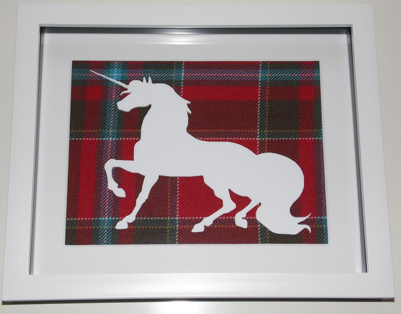 Unicorn large tartan background