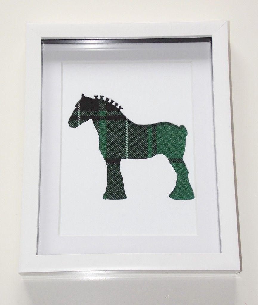 Clydesdale horse tartan cutout