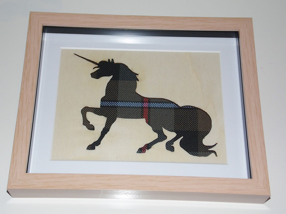 Wooden Unicorn cutout