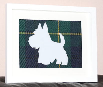 Westie large tartan background