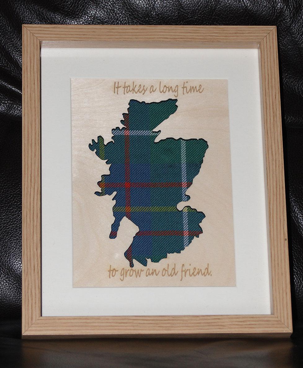 Wooden Scotland cutout