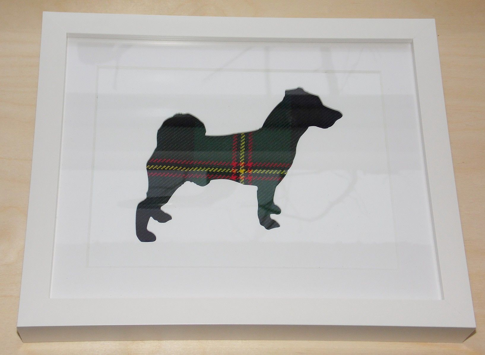 Jack Russell tartan cut out