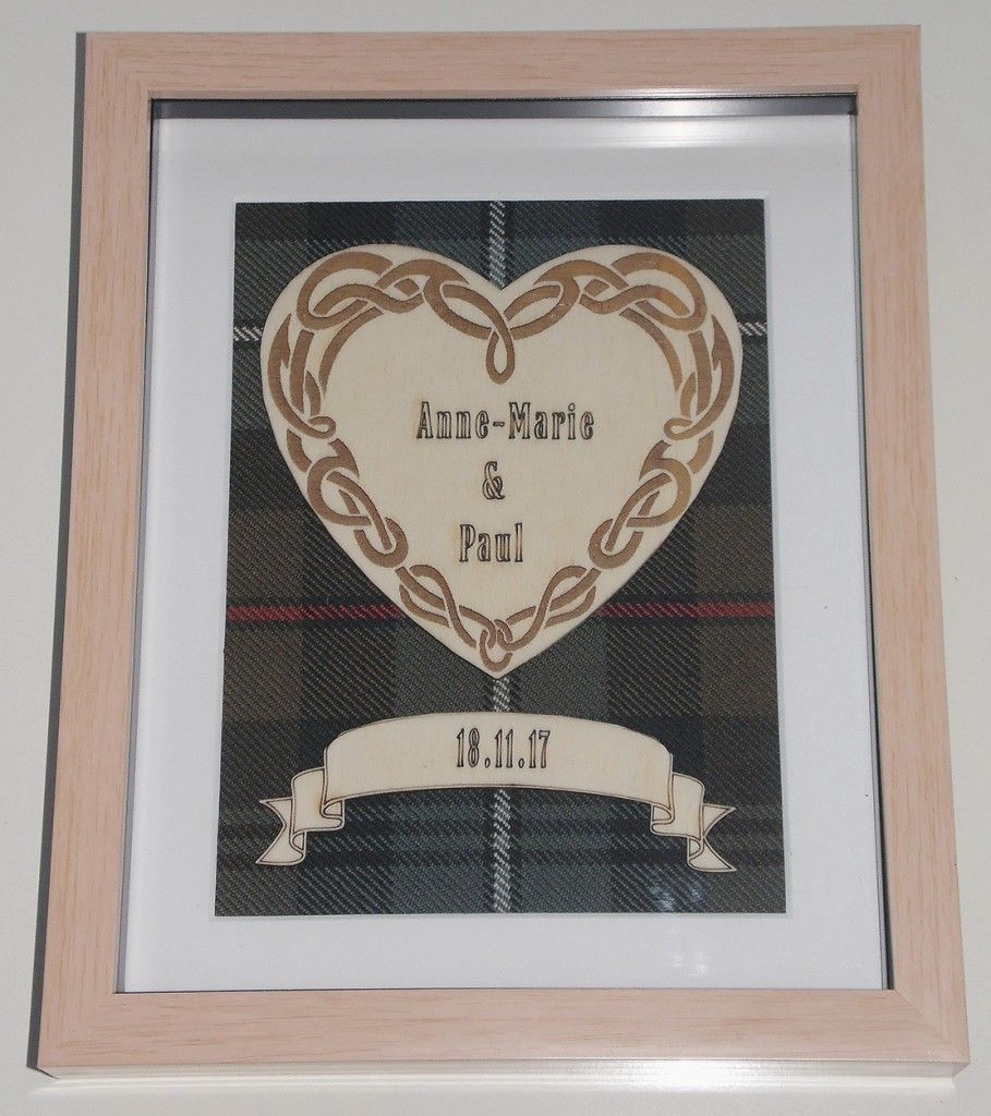 Wedding Heart Engraving