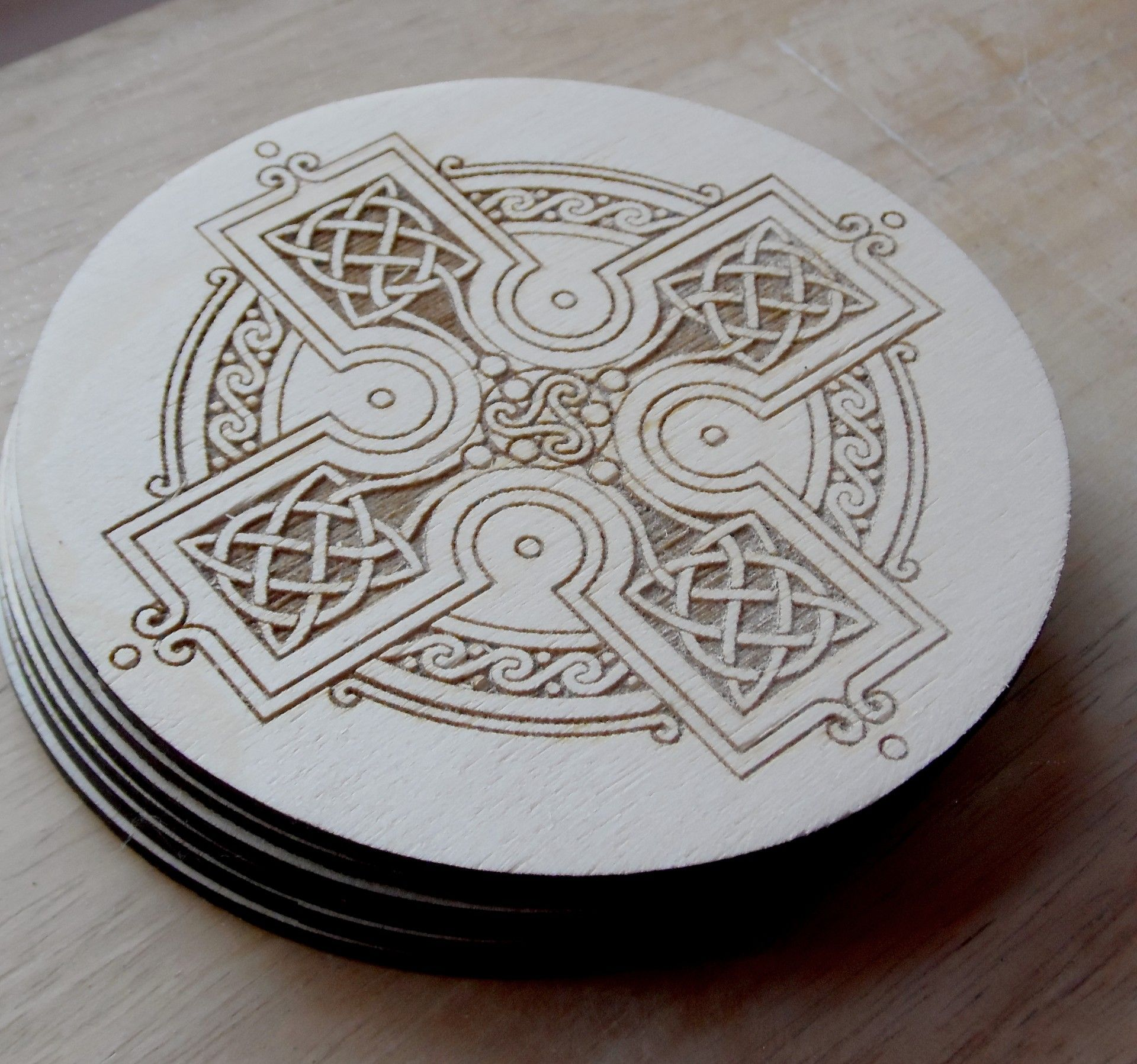Custom engraved coaster