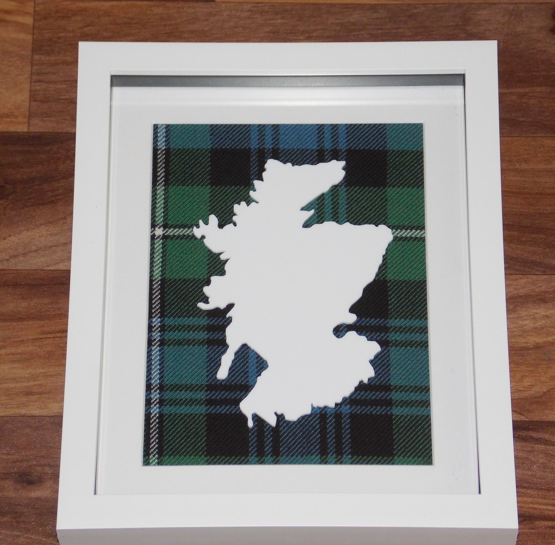 Scotland cut out large Tartan Background