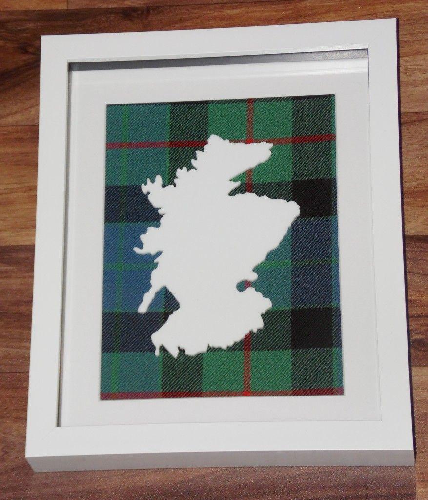 Scotland cut out large Tartan Background
