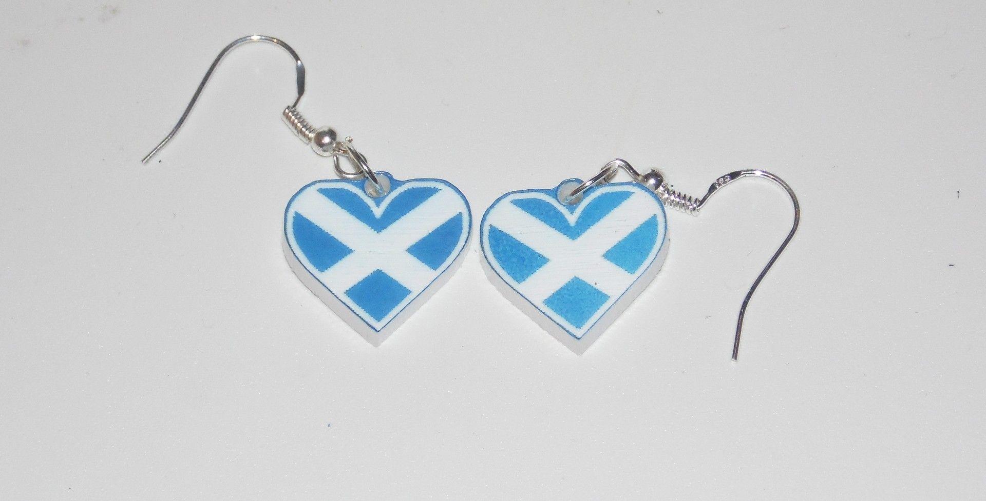 Saltire Heart earrings