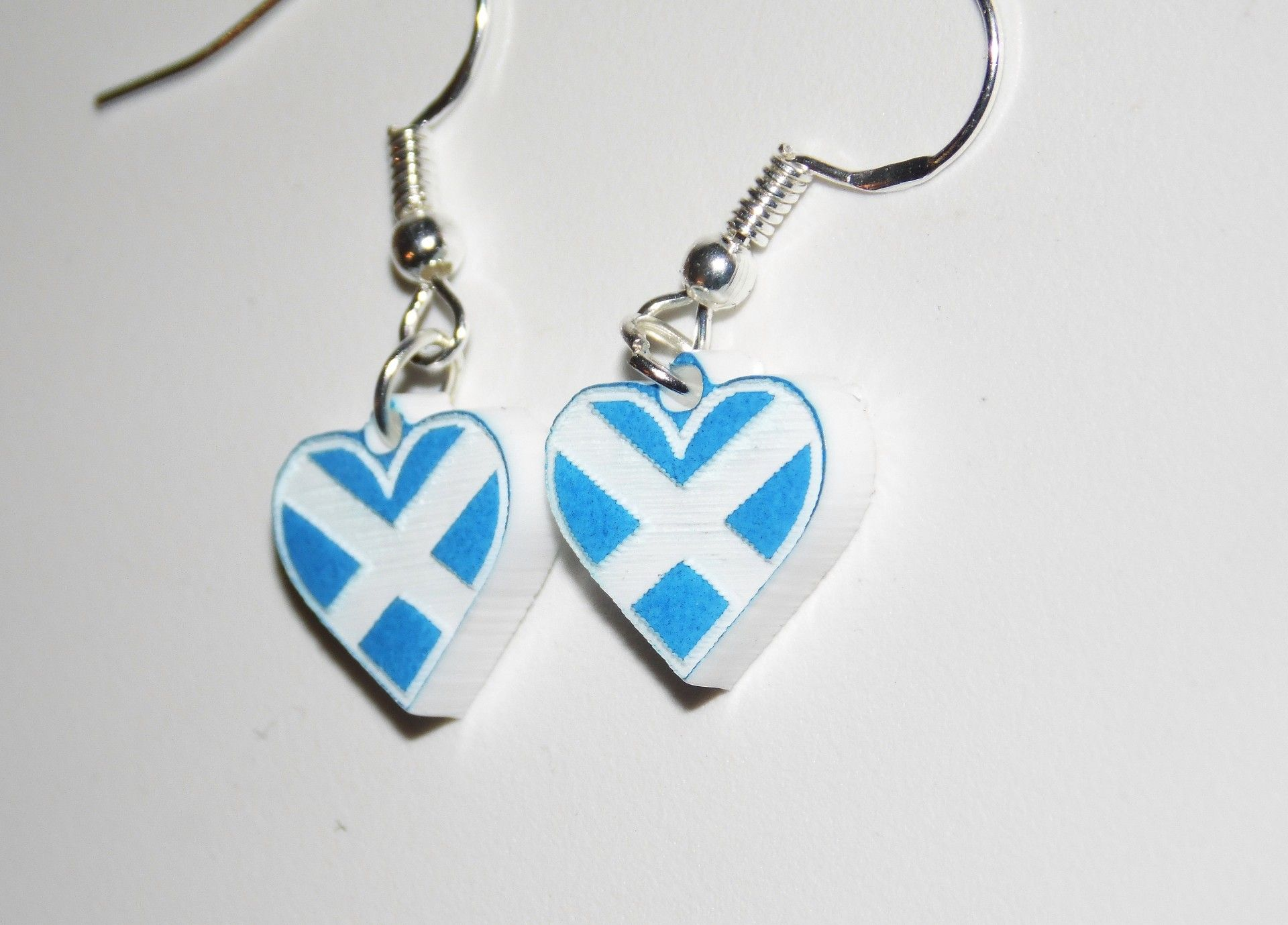 Saltire Heart earrings