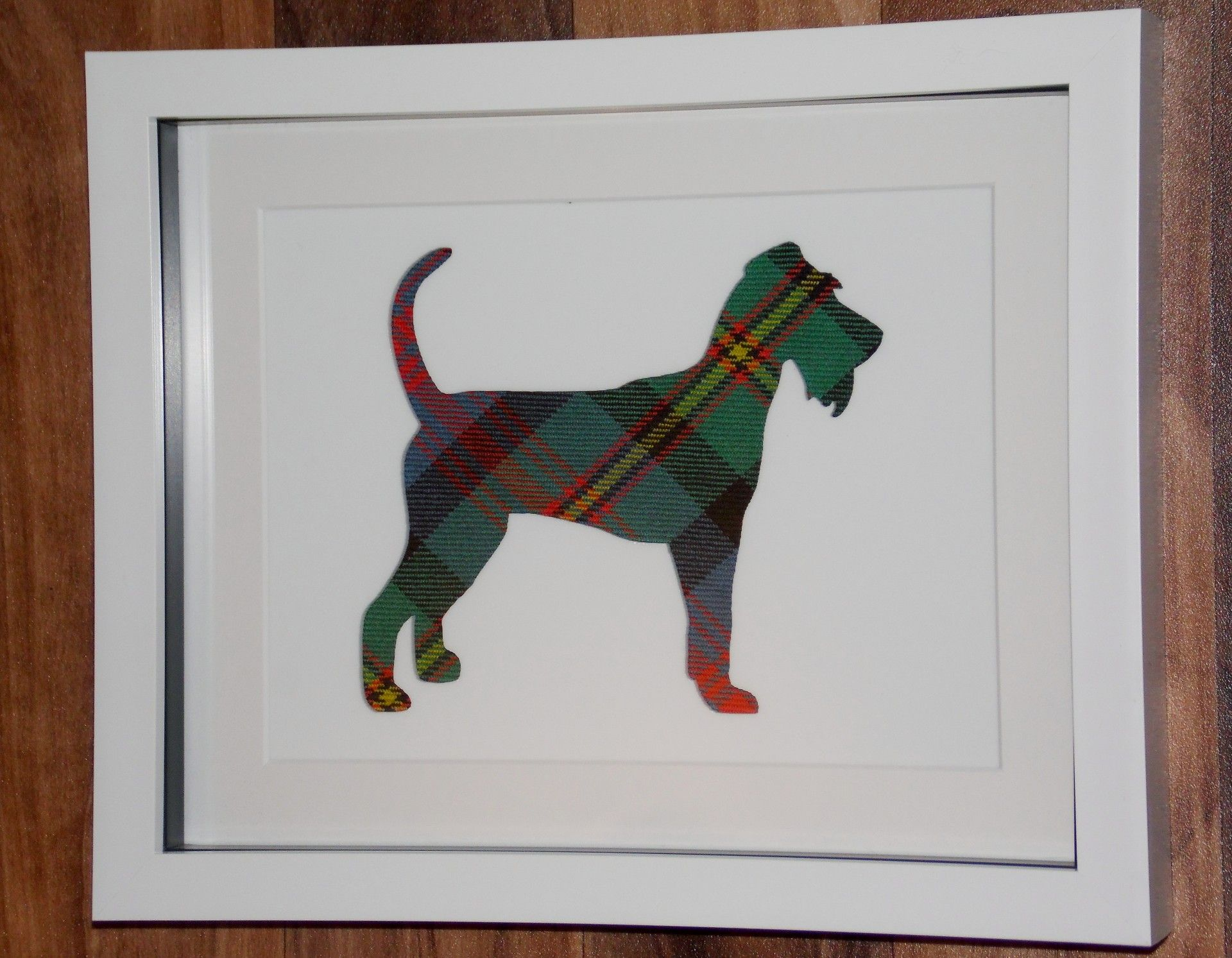 Irish Terrier tartan cut out