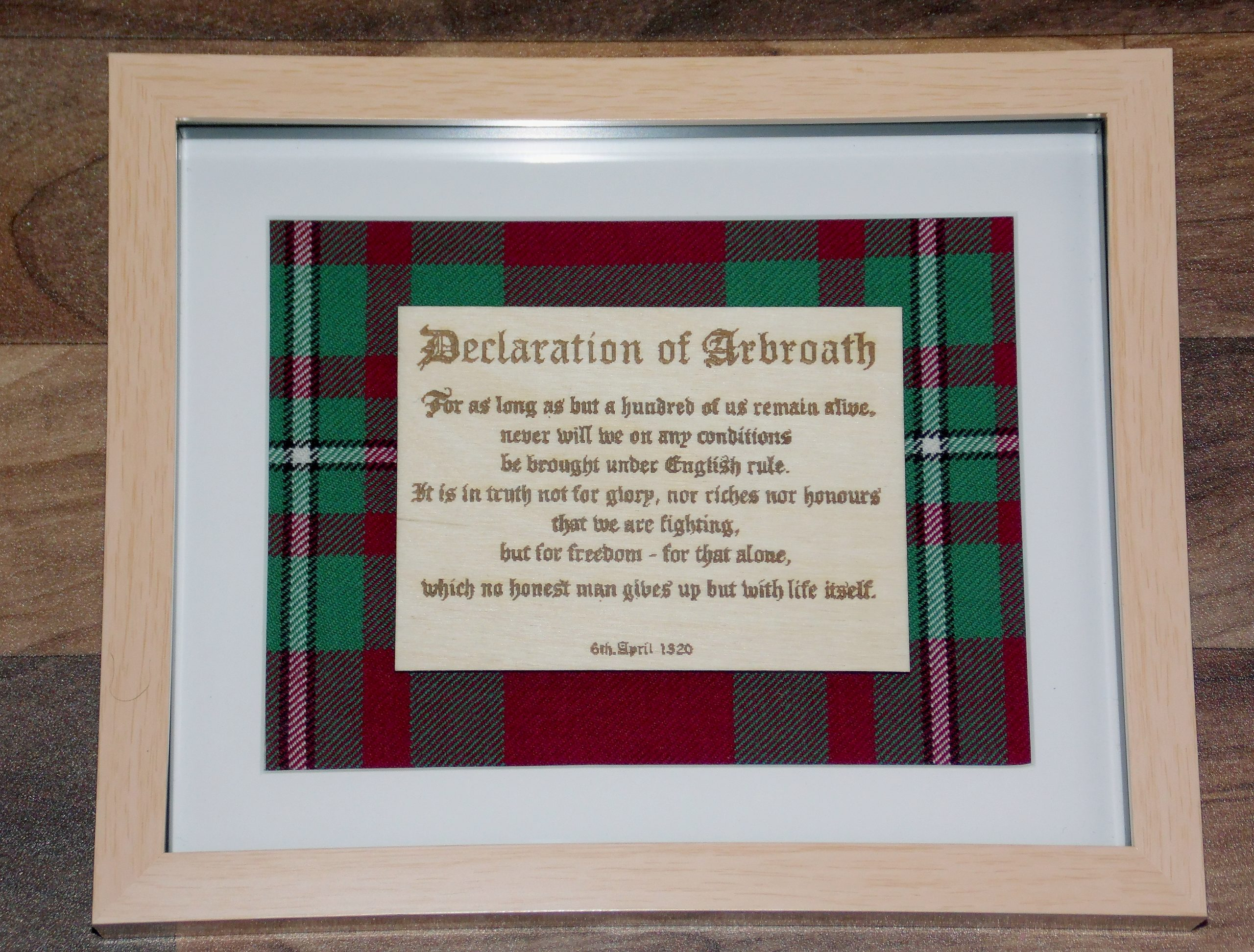Declaration of Arbroath extract engraving
