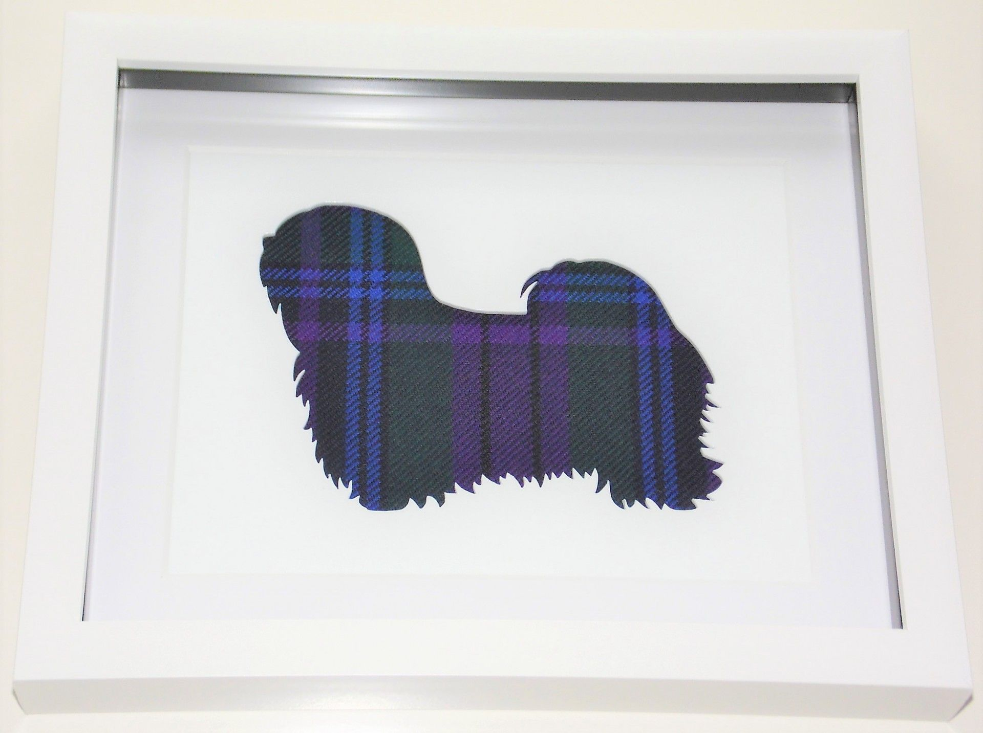 Lhasa apso tartan cut out