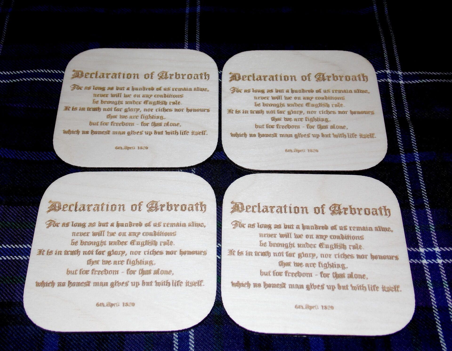 Declaration of Arbroath coaster set x 4
